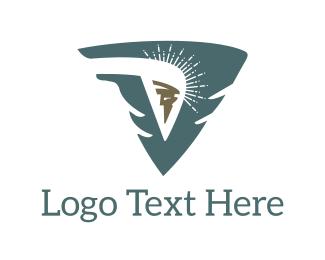 Greek God - Victory Spark logo design