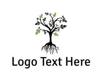 Botanical - Tree Root logo design