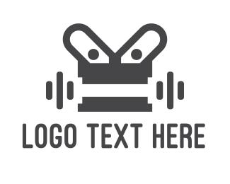 Heavy - Robot Gym logo design