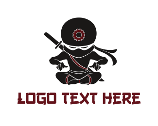 Samurai - Ninja Tech logo design
