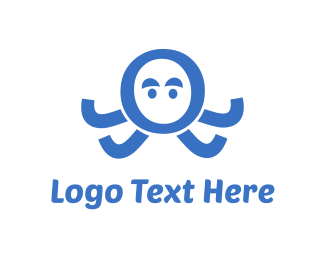 Wow - Octopus Letter O logo design