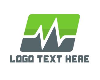 Cardiology - Green Pulse logo design