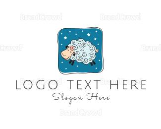 Sheep - Blue Sheep logo design