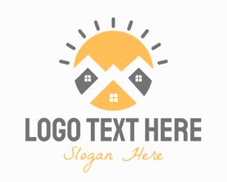 Bright - Bright Town logo design