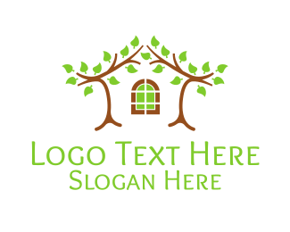 Landscape Architect - Tree House Home logo design