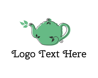 Teapot - Nature Tea logo design