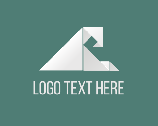 Surf - Origami Wave logo design