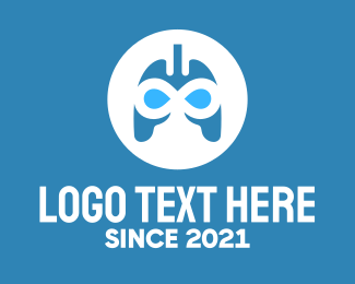 Oxygen - Blue Infinity Lungs logo design