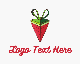 Green And Red - Watermelon Strawberry Pyramid Gift logo design