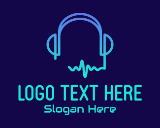 Music Streamer - Music Streaming Headphones logo design