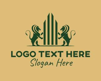 Funds Management - Lion Corporate Company  logo design