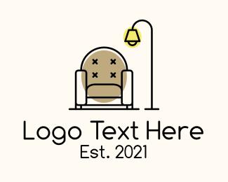 Living Room - Armchair Lamp Living Room logo design