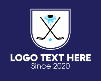 Puck - Ice Hockey Team Banner logo design