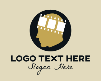 Strip - movie head logo design