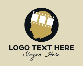 Reel - movie head logo design