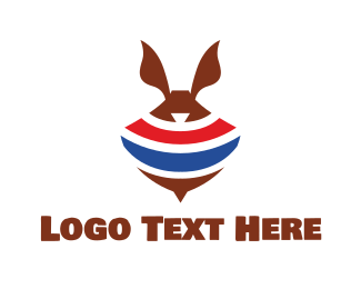 Ears - Abstract Spinning Rabbit Top logo design