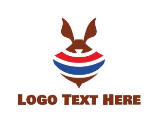 Top - Abstract Spinning Rabbit Top logo design