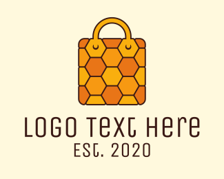 Honeycomb - Yellow Honeycomb Bag logo design