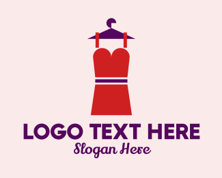 Model - Simple Red Dress logo design