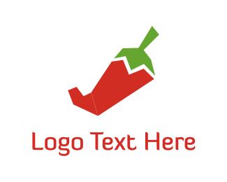 Chilli - Red Pepper logo design