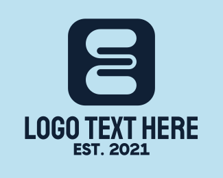 App - Letter E App logo design