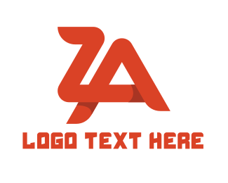 Heat - Red Z & A  logo design