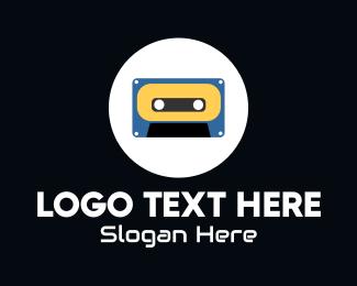 Casette Tape - Retro Casette Tape logo design