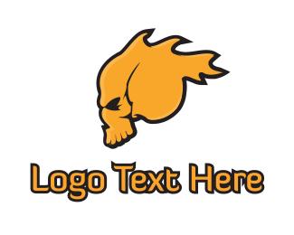 Flaming - Flaming Skull logo design