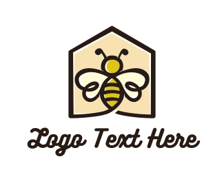Sting - Bee House  logo design
