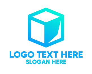 Packaging - Abstract Blue Cube logo design