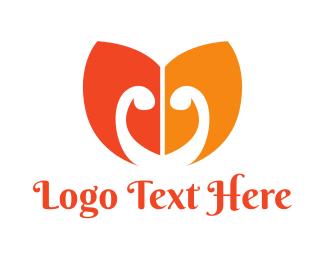 Cosmetic - Orange Leaf M logo design
