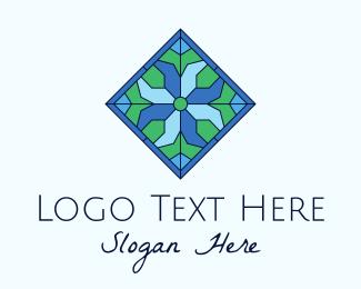 Tile - Tile Flower Stained Glass logo design