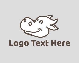 Dairy Farm - Happy Cow logo design