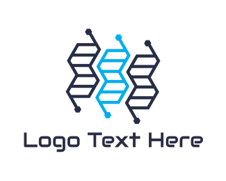 Genetics - Genetics Tech logo design