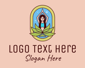 Yoga - Lotus Yoga Instructor  logo design