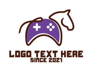 Game Shop - Esport Horse Console logo design