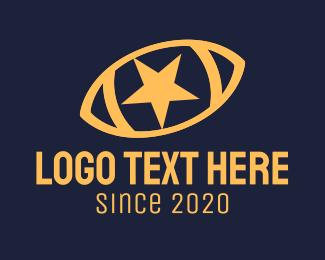Rugby League - Yellow Star Football Ball logo design