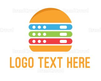 Hardware - Electronic Burger logo design