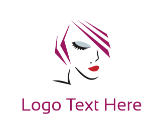 Esthetician - Woman Face logo design