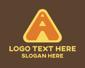 Driving School - Road Construction Letter A logo design