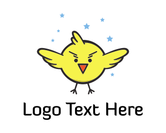 Cartoonish - Super Little Bird logo design