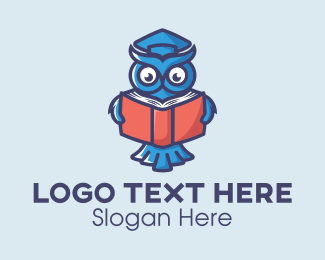 Library - Reading Book Owl logo design
