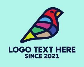 Little - Colorful Canary Bird logo design