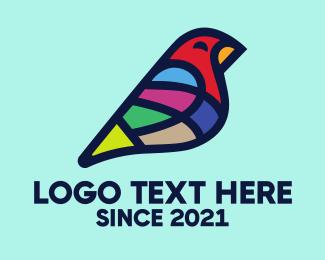 Color - Colorful Canary Bird logo design
