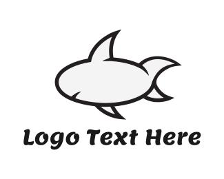 Shark - Cartoon Shark logo design