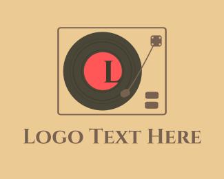 Dj App - DJ scratch Disk Letter logo design