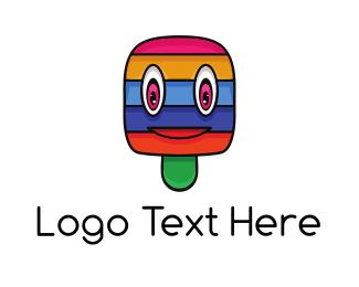 Treats - Colorful Stripe Popsicle  logo design