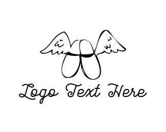 Shoe Store - Flying Slippers logo design