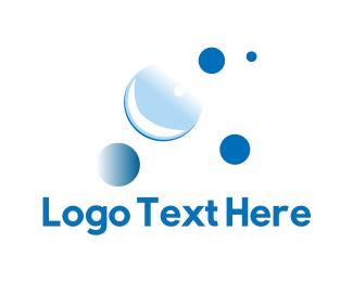 Bubble - Blue Bubbles logo design