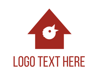 Chick - Red Birdhouse logo design